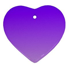 Violet To Wisteria Gradient Heart Ornament by BestCustomGiftsForYou