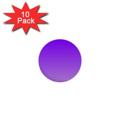 Violet To Wisteria Gradient 1  Mini Button (10 Pack) by BestCustomGiftsForYou