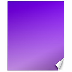 Violet To Wisteria Gradient Canvas 16  X 20  (unframed)