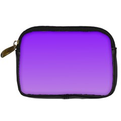Violet To Wisteria Gradient Digital Camera Leather Case by BestCustomGiftsForYou