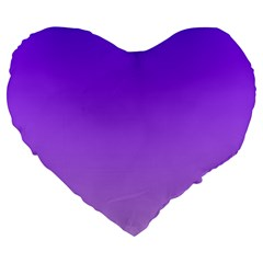 Violet To Wisteria Gradient 19  Premium Heart Shape Cushion by BestCustomGiftsForYou