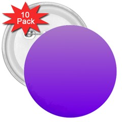 Wisteria To Violet Gradient 3  Button (10 Pack) by BestCustomGiftsForYou