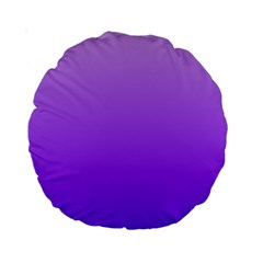 Wisteria To Violet Gradient 15  Premium Round Cushion  by BestCustomGiftsForYou