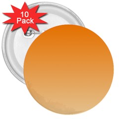 Orange To Peach Gradient 3  Button (10 Pack) by BestCustomGiftsForYou