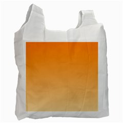 Orange To Peach Gradient Recycle Bag (two Sides) by BestCustomGiftsForYou
