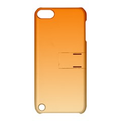 Orange To Peach Gradient Apple Ipod Touch 5 Hardshell Case With Stand by BestCustomGiftsForYou