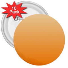Peach To Orange Gradient 3  Button (10 Pack) by BestCustomGiftsForYou