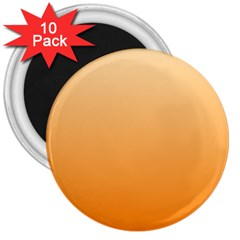 Peach To Orange Gradient 3  Button Magnet (10 Pack) by BestCustomGiftsForYou