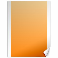 Peach To Orange Gradient Canvas 18  X 24  (unframed)
