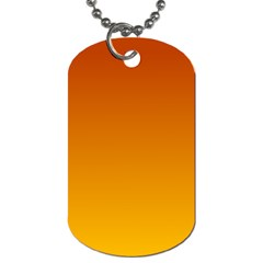 Mahogany To Amber Gradient Dog Tag (one Sided)