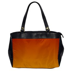 Mahogany To Amber Gradient Oversize Office Handbag (one Side) by BestCustomGiftsForYou
