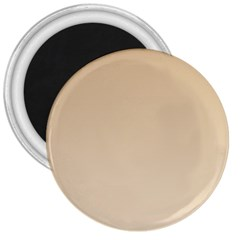 Tan To Champagne Gradient 3  Button Magnet by BestCustomGiftsForYou