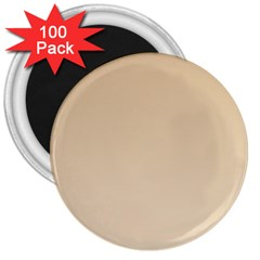 Tan To Champagne Gradient 3  Button Magnet (100 Pack) by BestCustomGiftsForYou