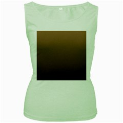 Chamoisee To Seal Brown Gradient Womens  Tank Top (green) by BestCustomGiftsForYou