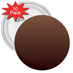 Chamoisee To Seal Brown Gradient 3  Button (10 Pack) by BestCustomGiftsForYou