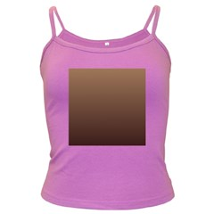 Chamoisee To Seal Brown Gradient Spaghetti Top (colored) by BestCustomGiftsForYou