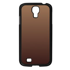 Chamoisee To Seal Brown Gradient Samsung Galaxy S4 I9500 (black) by BestCustomGiftsForYou