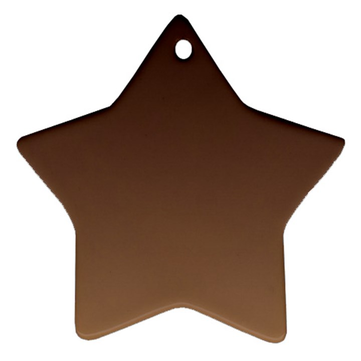 Seal Brown To Chamoisee Gradient Star Ornament