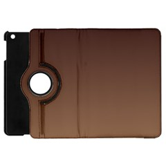 Seal Brown To Chamoisee Gradient Apple Ipad Mini Flip 360 Case by BestCustomGiftsForYou