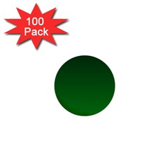 Dark Green To Green Gradient 1  Mini Button (100 Pack) by BestCustomGiftsForYou