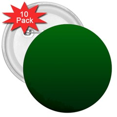 Green To Dark Green Gradient 3  Button (10 Pack) by BestCustomGiftsForYou