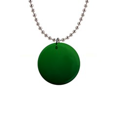 Green To Dark Green Gradient Button Necklace by BestCustomGiftsForYou
