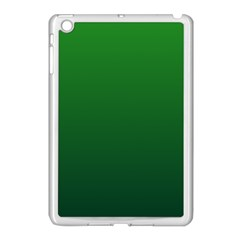 Green To Dark Green Gradient Apple Ipad Mini Case (white) by BestCustomGiftsForYou