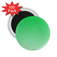 Dark Pastel Green To Pastel Green Gradient 2 25  Button Magnet (100 Pack) by BestCustomGiftsForYou