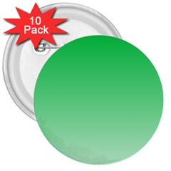 Dark Pastel Green To Pastel Green Gradient 3  Button (10 Pack) by BestCustomGiftsForYou