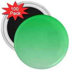 Dark Pastel Green To Pastel Green Gradient 3  Button Magnet (100 Pack)