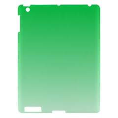 Dark Pastel Green To Pastel Green Gradient Apple Ipad 3/4 Hardshell Case by BestCustomGiftsForYou