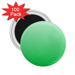 Pastel Green To Dark Pastel Green Gradient 2 25  Button Magnet (100 Pack) by BestCustomGiftsForYou