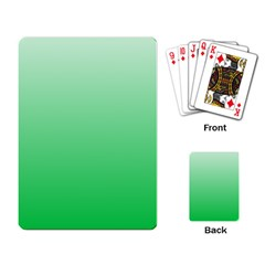 Pastel Green To Dark Pastel Green Gradient Playing Cards Single Design by BestCustomGiftsForYou