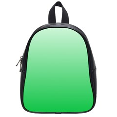Pastel Green To Dark Pastel Green Gradient School Bag (small) by BestCustomGiftsForYou