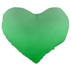 Pastel Green To Dark Pastel Green Gradient 19  Premium Heart Shape Cushion by BestCustomGiftsForYou