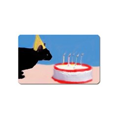 Birthday Kitty! Magnet (name Card) by mysticalimages