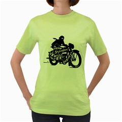 Full Speed Ahead! Womens  T Shirt (green)
