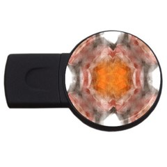 Seamless Background Fractal 2gb Usb Flash Drive (round) by hlehnerer