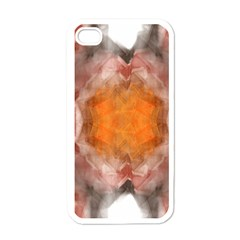 Seamless Background Fractal Apple Iphone 4 Case (white) by hlehnerer