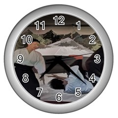 Aikido Karate Wall Clock (silver) by designsbyvee