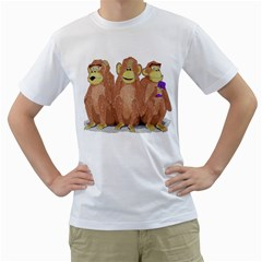 Monkeys, As Usual  Mens  T Shirt (white) by Contest1714697
