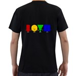 LOVE Mens' Two Sided T-shirt (Black) Back
