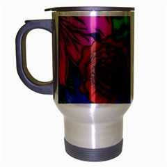 Creepy Beauty Travel Mug (silver Gray)