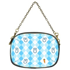 Plaid Bunny Chain Purse (two Side)