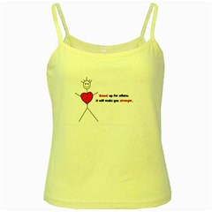 Antibully Lk Yellow Spaghetti Tank by createdbylk