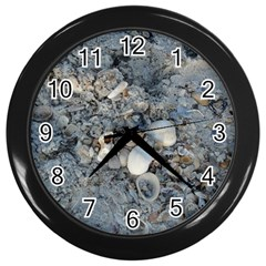 Sea Shells On The Shore Wall Clock (black) by createdbylk