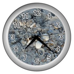 Sea Shells On The Shore Wall Clock (silver) by createdbylk