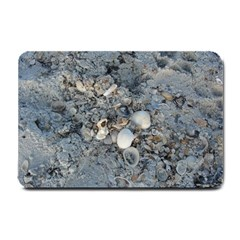 Sea Shells On The Shore Small Door Mat by createdbylk