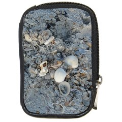 Sea Shells On The Shore Compact Camera Leather Case by createdbylk