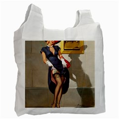 Retro Pin Up Girl Recycle Bag (two Sides) by PinUpGallery